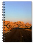 Panoramic View Of Road Going Spiral Notebook