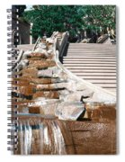 Panoramic View Of Stairs And Waterfall Spiral Notebook