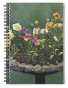 Pansies And Bluebird Spiral Notebook
