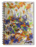 Pansies And Lillies Spiral Notebook