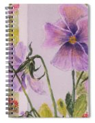 Pansies On My Porch Spiral Notebook