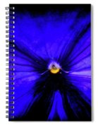 Pansy Abstract Grunge Spiral Notebook
