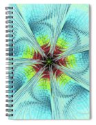 Pansy Fractal Spiral Notebook