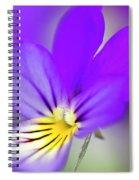 Pansy Violet Spiral Notebook