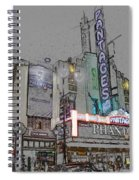 Pantages Theater Hollywood Spiral Notebook
