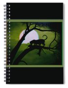 Panther Silhouette - Use Red-cyan 3d Glasses Spiral Notebook