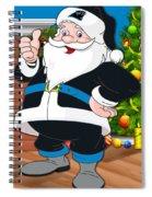 Panthers Santa Claus Spiral Notebook