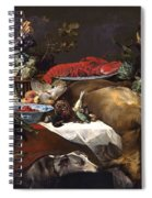 Pantry Scene With Servant By Frans Snyders Spiral Notebook