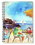 Papagayo Beach Bar In Lanzarote Spiral Notebook