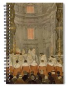 Papal Ceremony In St Peter In Rome Under The Canopy Of Bernini Spiral Notebook