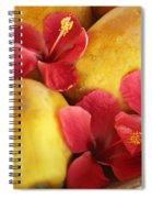 Papaya Fruit And Hibiscus Spiral Notebook
