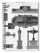 Paper Mill Diagram, 1814 Spiral Notebook