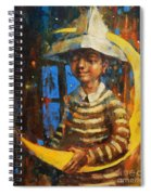 Paper Moon Spiral Notebook