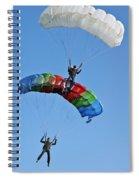 Parachutists Biplane Spiral Notebook