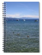 Parade Of Geese Spiral Notebook