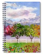 Parade Of The Seasons Spiral Notebook