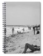 Paradise Beach In Black And White Spiral Notebook