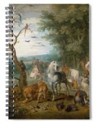 Paradise Landscape With Animals Spiral Notebook