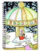 Parallel Carousel Spiral Notebook