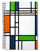 Parallel Lines Composition With Blue Green And Orange In Opposition Spiral Notebook