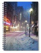 Paramount Snowstorm Boston Ma Washington Street Spiral Notebook
