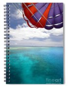 Parasail Over Fiji Spiral Notebook