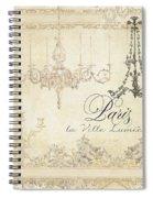 Parchment Paris - City Of Light Chandelier Candelabra Chalk Spiral Notebook