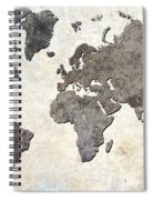 Parchment World Map Spiral Notebook