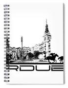 Pardubice Skyline City Black Spiral Notebook