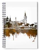 Pardubice Skyline City Brown Spiral Notebook