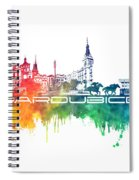 Pardubice Skyline City Color Spiral Notebook