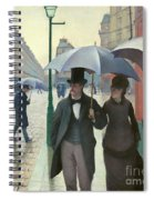 Paris A Rainy Day - Gustave Caillebotte Spiral Notebook