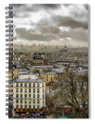 Paris As Seen From The Sacre-coeur Spiral Notebook