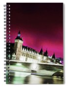 Paris At Night 18 Art Spiral Notebook