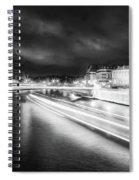 Paris At Night 19 Bw Art  Spiral Notebook
