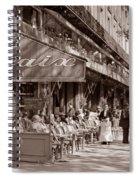 Paris Cafe 1935 Sepia Spiral Notebook