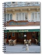 Paris Cafe Bistro Vivienne - Paris Cafes Bistro Restaurant-paris Cafe Galerie Vivienne Spiral Notebook