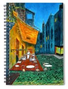 Paris Cafe Spiral Notebook
