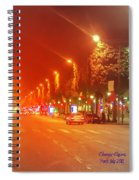 Paris Champs-elysees Spiral Notebook