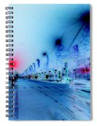 Paris Champs-elysees Neon Lights Spiral Notebook