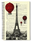 Paris, City Of Love Spiral Notebook