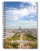 Paris City View 20 B Spiral Notebook