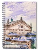 Paris City View 22 Art Spiral Notebook