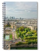 Paris City View 27 Spiral Notebook