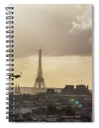 Paris City View 30 Art Spiral Notebook