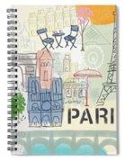 Paris Cityscape- Art By Linda Woods Spiral Notebook