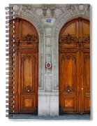 Paris Doors Spiral Notebook