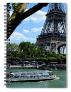 Paris Eiffel Boat Spiral Notebook