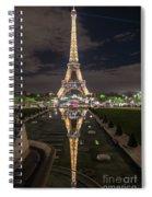 Paris Eiffel Tower Dazzling At Night Spiral Notebook