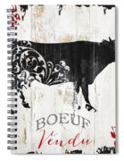 Paris Farm Sign Cow Spiral Notebook